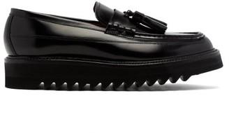 Grenson Brooklyn Tassel Leather Loafers - Mens - Black
