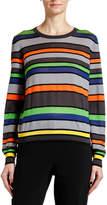 Giorgio Armani Silk-Cashmere Striped Knit Sweater