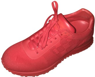 Louis Vuitton Run Away Red Leather Trainers