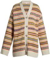 Stella McCartney Fair Isle-intarsia oversized wool-knit cardigan