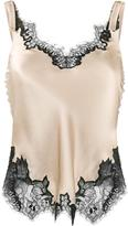 Helmut Lang lace-trimmed slip top - women - Silk/Nylon/Polyester/Viscose - L