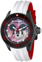 Invicta White & Red Disney Mickey Mouse Dial Watch