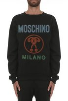 Moschino Double Question Mark Logo Sweatshirt, Black