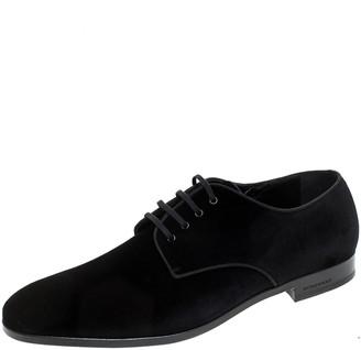 Burberry Black Velvet Menning Derby Size 45.5