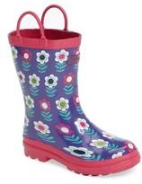 Hatley Toddler Girl's Nordic Flowers Waterproof Rain Boot