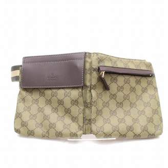 Gucci Brown Cloth Clutch bags