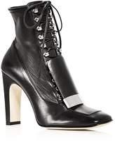 Sergio Rossi Women's Leather High Heel Booties