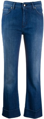 Fay Cropped Flared Leg Jeans