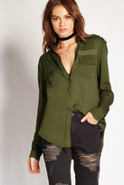 Forever 21 FOREVER 21+ Military Patch Shirt