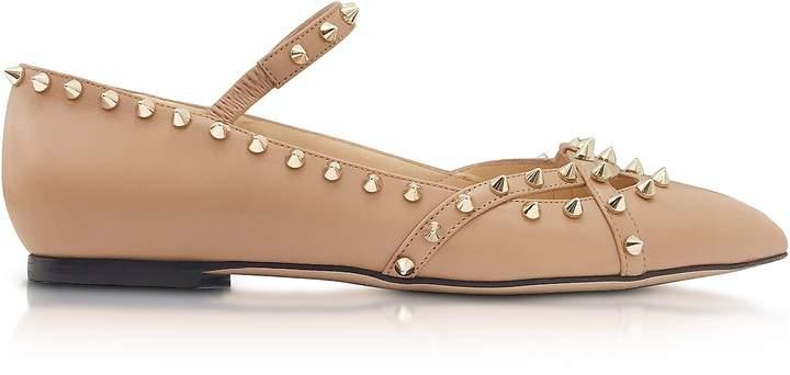 Charlotte Olympia Kensington Nude Leather Flat