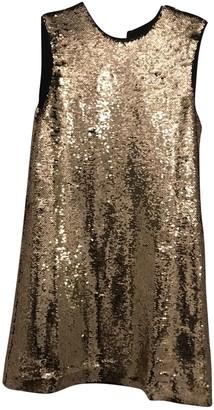Maje Fall Winter 2019 Gold Glitter Dresses