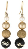 Dolce & Gabbana Love Bead & Faux Pearl Drop Earrings
