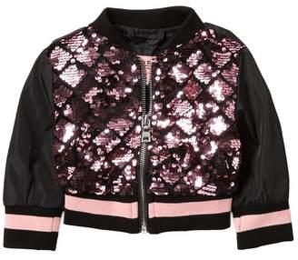 Urban Republic Sequin Bomber Jacket (Baby Girls)