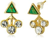 Jules Smith Designs Triangle Stone Stud Earrings