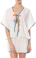Rosalita Dacha Fluoresecent Poncho Dress