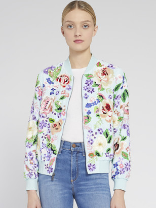 Alice + Olivia Lonnie Floral Embroidered Jacket