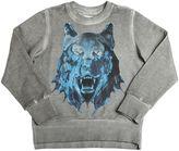 Diesel Wolf Printed Faded Cotton Sweatshirt