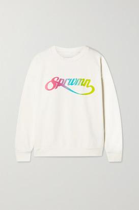 Sprwmn Printed Cotton-jersey Sweatshirt - White