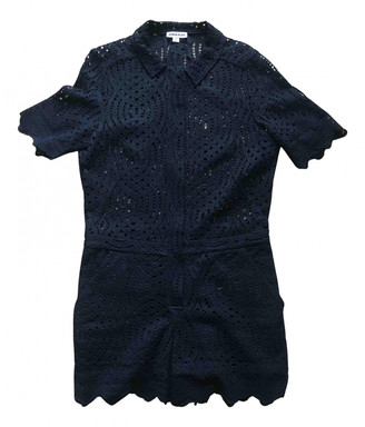 Whistles Navy Cotton Jumpsuits
