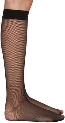 Wolford Black Twenties Knee-High Socks