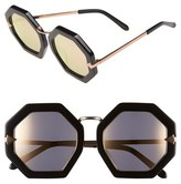 Karen Walker Women's 'Moon Disco' 53Mm Sunglasses - Black With Rose Gold
