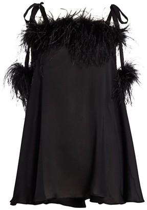 Gilda And Pearl Esme Silk Feather Babydoll Dress
