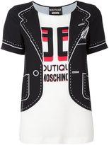 Moschino blazer print blouse