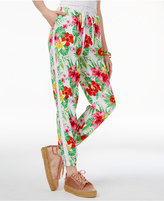 The Edit By Seventeen Juniors' Tropical-Print Jogger Pants, Only at Macy's