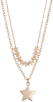 Area Stars Double Layer Star Necklace