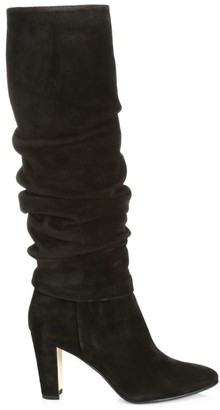 Manolo Blahnik Shushanhi Ruched Suede Boots