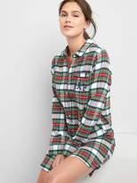 Gap Flannel sleep shirt dress