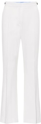 Thierry Mugler Mid-rise flared stretch-wool pants