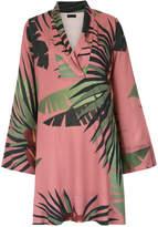 OSKLEN tropical print shift dress