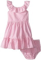 Ralph Lauren Seersucker Ruffle Dress Girl's Dress