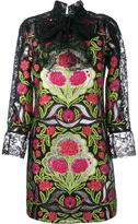 Gucci Floral Brocade and Lace Dress