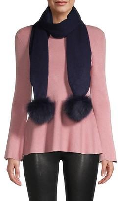 Gorski Wool & Fox Fur-Trim Scarf