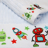 Robots Rock Cotton 2 Piece Embroidered Towel Gift