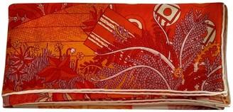 Hermes Chale 140 Orange Cashmere Scarves