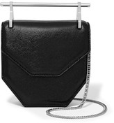 M2Malletier Amor Fati Mini Glittered Textured-leather Shoulder Bag - Black
