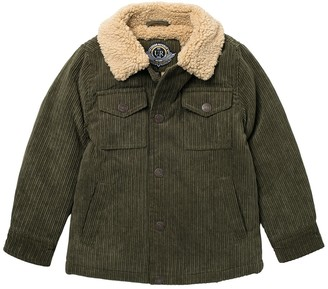 Urban Republic Corduroy Shirt Jacket with Faux Shearling Collar (Little Boys)