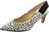 French Connection Kourtney Women US 8.5 White Peep Toe Slingback Heel