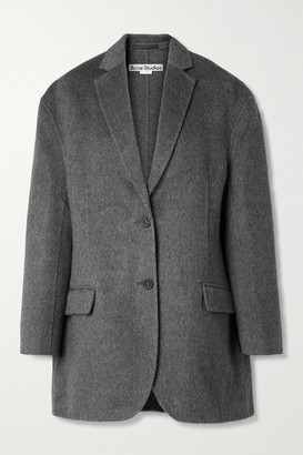 Acne Studios Oversized Melange Brushed Wool And Alpaca-blend Blazer - Anthracite