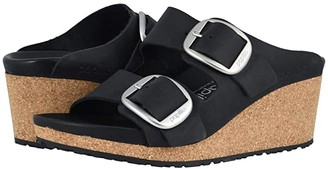 Birkenstock Nora Big Buckle by Papillio (Black Oiled Leather) Women's Sandals