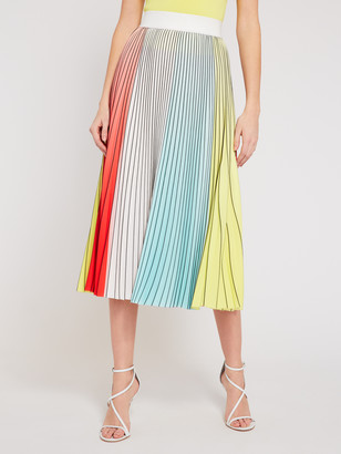 Alice + Olivia Arden Pleated Midi Skirt