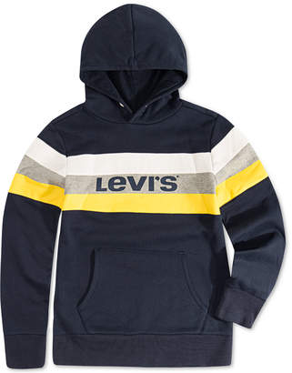 Levi's Toddler Boys Colorblocked Stripe Fleece Logo Hoodie