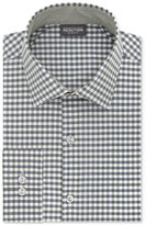 Kenneth Cole Reaction Men's Slim-Fit Techni-Cole Stretch Performance Gingham Dress Shirt