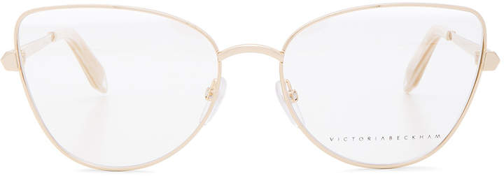 Victoria Beckham Fine Metal Butterfly Optical