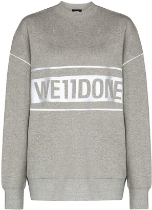 we11done Reflective-Logo Sweatshirt