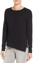 Caslon Asymmetrical Ribbed Sweater