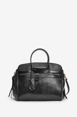 Next Womens Black Three Compartment Tote Bag - Black